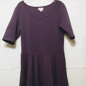LuLaroe purple dress L